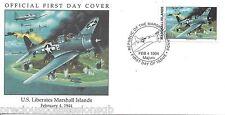 W70 1-1 Isole Marshall FDC COVER 1994 U.S. libera Isole Marshall 1944