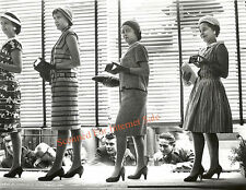 Rare Photo Peeping Toms Looking into Store Window Modernist 1940s Fashion Models