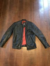Diesel Leather Jacket Mens Small