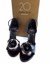 CHARLES DAVID PEONY Black Sandals Shoes '20 Collection' 7.5