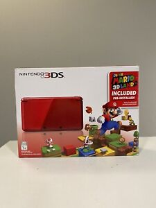 Nintendo 3DS Super Mario 3D Land (Pre-Installed) Holiday Bundle Flame Red CIB