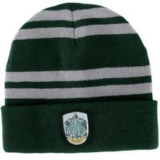 Harry Potter Slytherin Logo Stripes Knit Beanie Hat Cap Deathly Hallows Costume