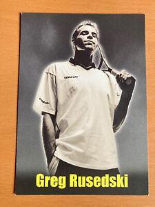 GREG RUSEDSKI DONNAY PROMOTIONAL CARD WIMBLEDON TENNIS