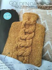 KNITTING PATTERN Debbie Bliss Cable Knot Hot Water Bottle Cover Home PATTERN
