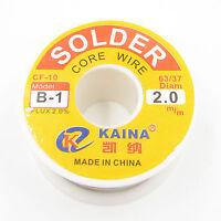 2.0mm 63/37 Rosin Core Flux 2.0% Tin Lead Roll Soldering Solder Wire Reel 100G