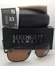 SERENGETI PHOTOCHROMIC Polarized Sunglasses CORLEONE 8416 Black Aviator w/Driver
