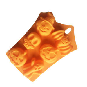 Silicone Halloween Pumpkin Ghost mold Cookies Fandont Chocolate Cake Jelly Mould
