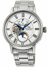 Orient Star automatic Moon Phase RK-AY0102S Men's Watch Open Heart White Silver
