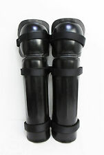 X Police Lower Leg Shin Knee Leg Guards Limb Protectors Riot Paintballing B7 SN6