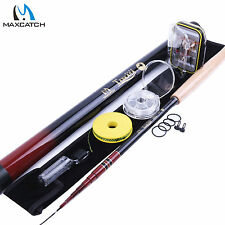 "10'8""/11'1""/12'9"" Telescoping Fly Rod Combo Tenkara Fishing Pole, Line,Box,Flies"