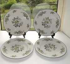 Royal Doulton English China Campagna in Green 1970s. 4 x Side Plates 16.5cm