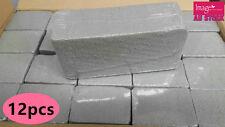 12pcs Dry Floral Foam Brick Block Type Grey Flower Decoration 22.5x10.5x7cm YW