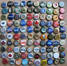 100 DIFF MIXED WORLDWIDE PLASTIC LINED BEER BOTTLE CAPS