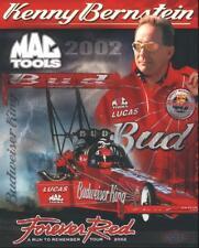 2002 Kenny Bernstein Budweiser Top Fuel NHRA postcard