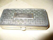 C 1920 Gillette Safety Razor in Silver Box, Pocket Edition, Bronze