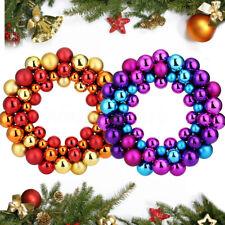 55X Christmas Balls Wreath Hanging Garland Door Wall Window Ornament Decor