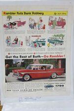 "Vintage Automobile Advertisement 11 X 14"" AMC 1958 Rambler Rebel  (A61)"