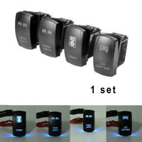 4x SUV Car Boat 5-Pin Blue LED Light Bar ON/OFF Stereo Switch 12V Accessories