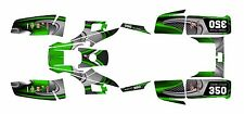 Yamaha Warrior 350 Graphics Decal kit Free Custom Service #3737-Green