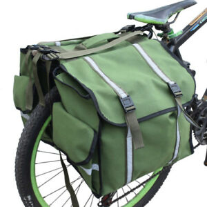 2 in 1 Bike Trunk Cycling Pannier Bags Bicycle Double Side Rear Tail Seat Pack