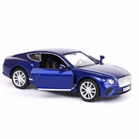 1:36 Scale Bentley Continental GT Model Car Diecast Toy Vehicle Pull Back Blue