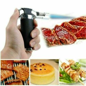 Refillable Mini Butane Gas Blow Torch Lighter Chef creme brulee torch Cooking