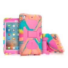 Apple iPad mini 1 2 3 Dirtproof Shockproof Case With Stand & Screen protector