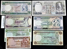 SYRIA 1 5 10 25 50 100 500 POUNDS 1982 -1992  UNC SET