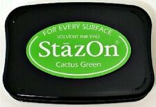 StazOn Solvent Ink Pad CACTUS GREEN SZ-52 Tsukineko Brand New! Sealed
