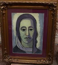 Heinz Friedrich Kirchner 1926-2000, Ritratto uno giovani Donna, Guazzo, a 1950