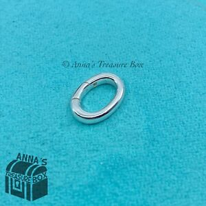 NEW Tiffany & Co Silver Oval Clasping Link Charm Holder Jump Ring