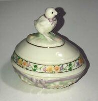 Vintage Lenox Ceramic The Chick Easter Egg 1999 Trinket Box See Pics! Make Offer