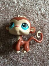 Littlest Pet Shop LPS RARE #304 Red And Light Brown Monkey With Blue Eyes Hasbro