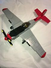 """Lego Brickmania set 259 P-51D Mustang 332nd FG """"Red Tail"""" WW2 WWII"""