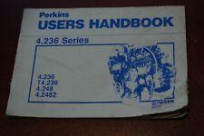 PERKINS 4.236 T4 4.248 4.2482 Diesel Engine Owner Operator Operation Manual book