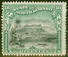 North Borneo 1897 18c Black & Green Corrected Inscription SG110b P.15 Fine Mtd M