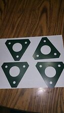Guy plates for use with military poles HAM radio