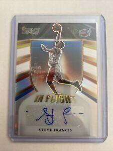 2020-21 Select Steve Francis In Flight Silver Auto # /249 Houston Rockets