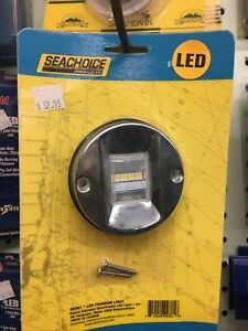Seachoice 02381 LED Transom Light, Round, 3-Inch Diameter, Clear Lens, 304 St...