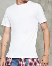 FOREVER 21 Men's White T-Shirt Size X-Small Crew Neck Basic Cotton