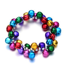 Children's Multicolor Jingle Bell Charm Beaded Bracelet Birthday Gifts Jewelry