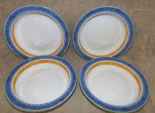 """6 Dansk Ceylon 8.75/"""" Rimmed Soup or Pasta Bowls"""