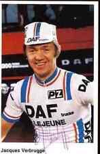 JACQUES VERBRUGGE Daf Trucks LEJEUNE Team Signed Autographe Signé cyclisme PZ
