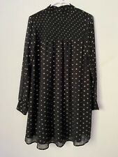 A New Day Womens Black & Gold Small Dress Twirl Flowy