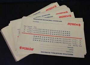 Vtg Ektelon Racquetball Scorecard Lot Regulation Unused Approx 50 Referee Card