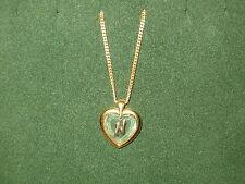 """STAR CRYSTAL *NEW* Pendentif Coeur Lettre """"N"""" chaîne dorée Pendant crystal/gold"""