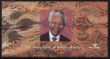 "NELSON MANDELA 2001 ""MANY FACES"" BOOKLET 10 STAMPS+2 CARDS"