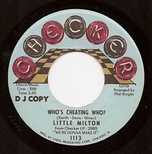 LITTLE MILTON Who's Cheating Who? Northern Soul 45 on Checker 1 Sided Promo Hear