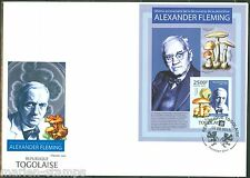 TOGO 2013 85th ANNIVERSARY DISCOVERY OF PENICILLIN ALEXANDER FLEMING S/S FDC