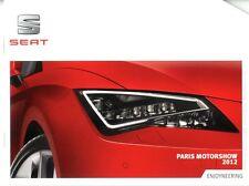 2012 SEAT PARIS MOTORSHOW PRESSKIT PERSMAP PRESSEMAPPE ENGLISH + USB